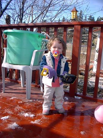Jolie the snow shoveller