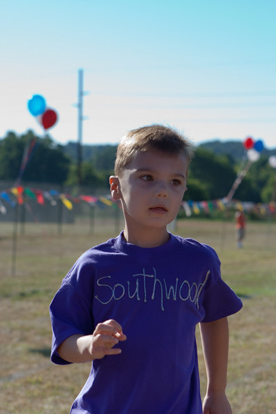 KC running the Kids Fun Run at the Hockessin July 4th Relays.  He was motivated by the lollipop he received at the finish line.