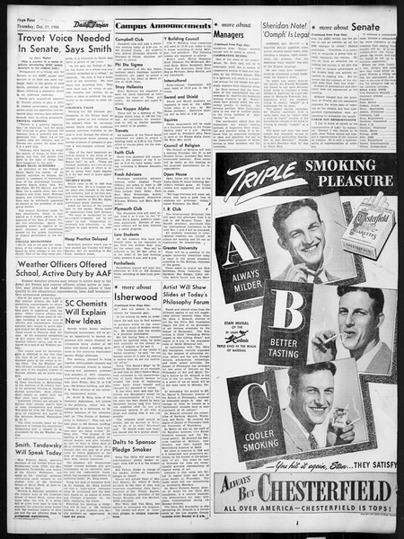 Daily Trojan, Vol. 38, No. 24, October 17, 1946