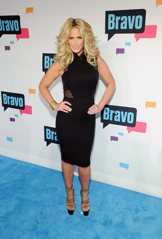 . Kim Zolciak attends the 2013 Bravo New York Upfront at Pillars 37 Studios on April 3, 2013 in New York City.  (Photo by Craig Barritt/Getty Images)