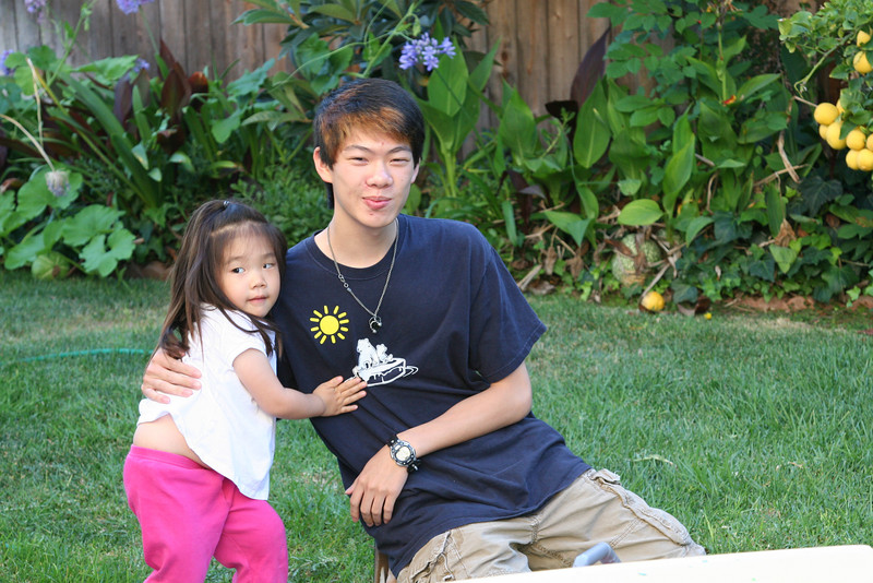 Jimmy and Jody visit on July 5, 2009