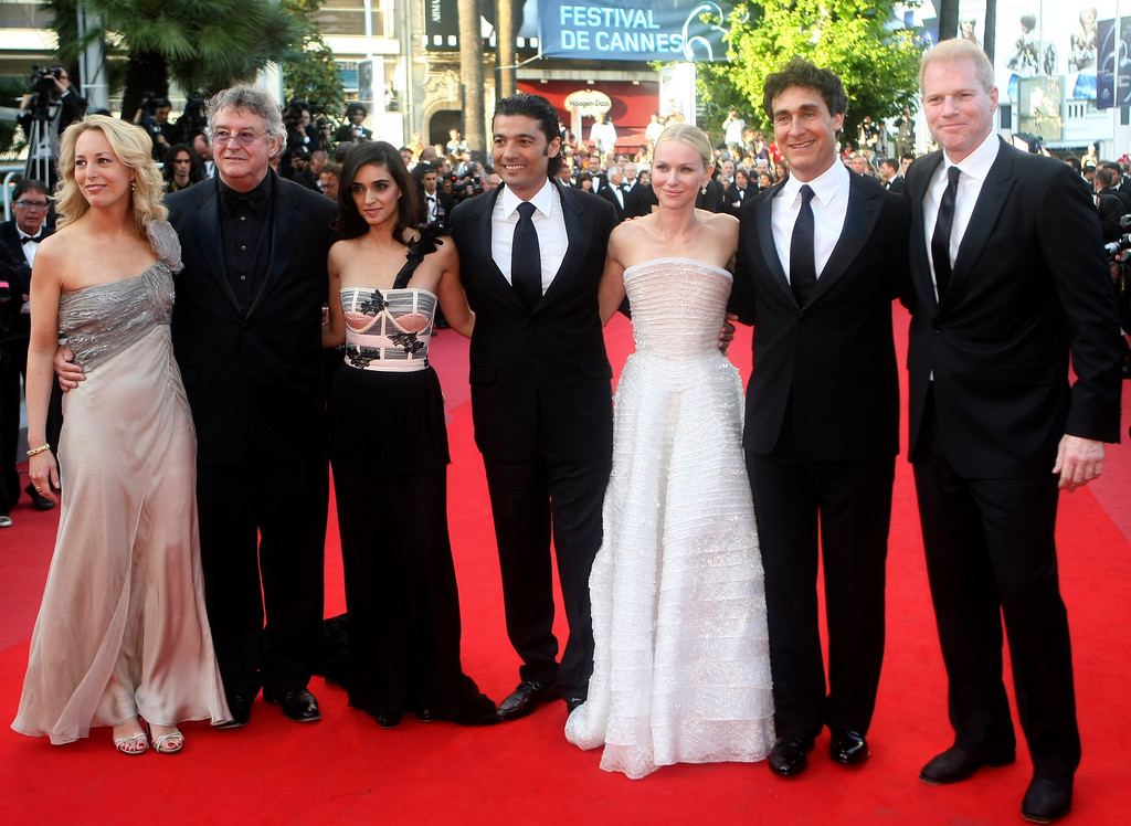 """. From left, former CIA Agent Valerie Plame, her husband Joseph Wilson, actress Liraz Charmi, actor Khaled Nabawy, actress Naomi Watts, director Doug Liman and actor Noah Emmerich arrive for the screening of \""""Fair Game\"""", at the 63rd international film festival, in Cannes, southern France, Thursday, May 20, 2010. (AP Photo/Lionel Cironneau)"""