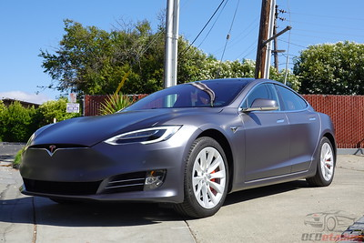 2019 Tesla Model S - Midnight Silver XPEL Stealth Wrap
