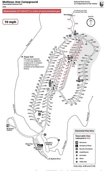 Shenandoah National Park (Mathews Arm Campground)