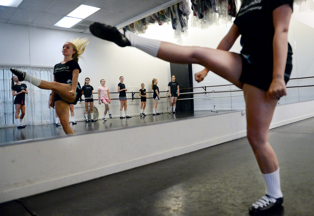 . Jenna Rolf, 17, of theTir Ruaidh Irish Dance Company, rehearses on Thursday, June, 26, 2014 at School of International Ballet in Redlands, Ca. The company has enjoyed much success over the last year, with multiple dancers winning and placing in The World Irish Dance Associations� European and World Championships. (Photo by Micah Escamilla/Redlands Daily Facts)