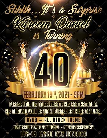 Kareem Daniel Surprise 40th