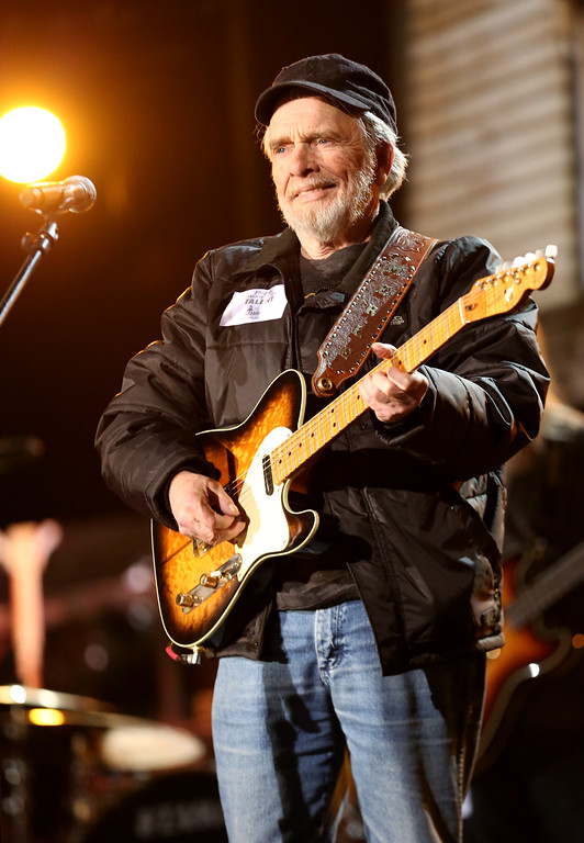 . This Jan. 24, 2014 file photo shows country singer Merle Haggard during a rehearsal for the 56th Annual Grammy Awards in Los Angeles. Haggard died of pneumonia, Wednesday, April 6, 2016, in Palo Cedro, Calif. He was 79. (Photo by Matt Sayles/Invision/AP, File)