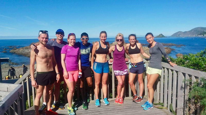 Sunday long run with some speedy crew
