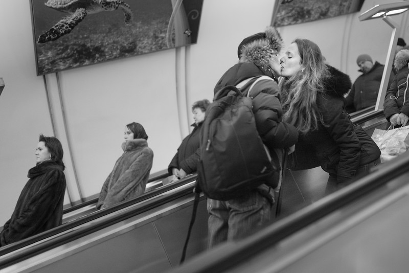Moscow Escalators are for Lovers