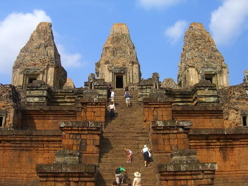Walking Up the Steps of Pre Rup - Angkor, Cambodia