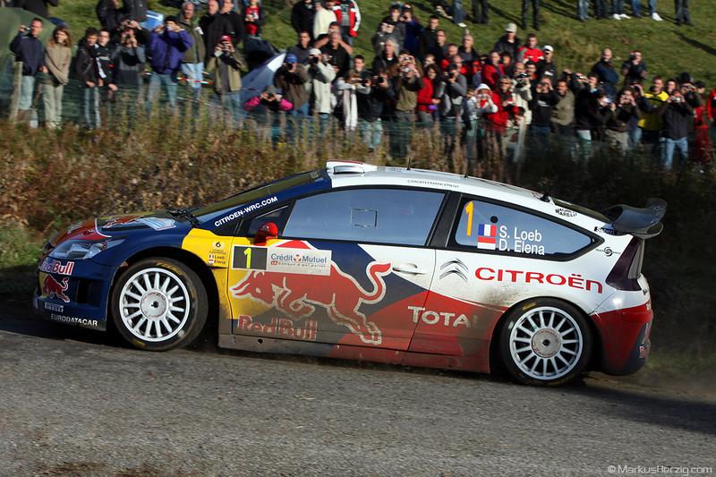 Citroen C4 WRC - Sebastien Loeb FRA @ WRC Rallye de France 1Oct10