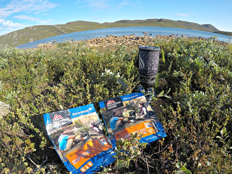 Mountain House meals and jet boil stove