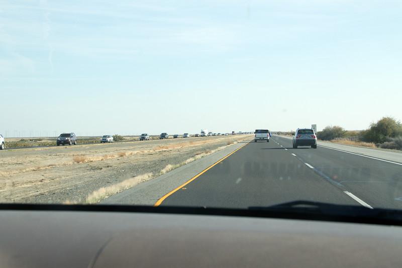 Traffic heading north (we go south)
