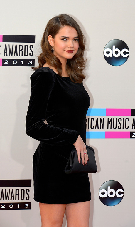 . Maia Mitchell arrives to the American Music Awards  at the Nokia Theatre in Los Angeles, California on Sunday November 24, 2013 (Photo by Andy Holzman / Los Angeles Daily News)