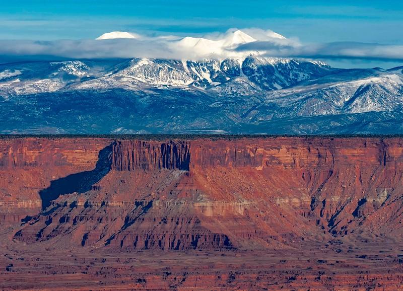 Canyonlands looking towards La Sal Mountains