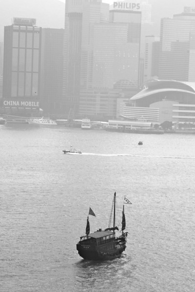 Expo center across the harbor in HK.  Taken from the Kowloon sideTaken from the Kowloon side of the harbor from our room window at the Intercontinental