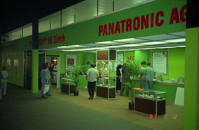 Panatronic AG's booth at a trade show.