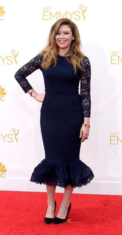 . Natasha Lyonne on the red carpet at the 66th Primetime Emmy Awards show at the Nokia Theatre in Los Angeles, California on Monday August 25, 2014. (Photo by John McCoy / Los Angeles Daily News)