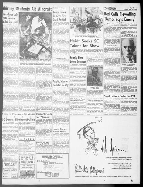 Daily Trojan, Vol. 40, No. 106, March 25, 1949