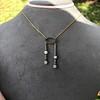 1.80ctw Antique Diamond and Sapphire Negligee Pendant 18