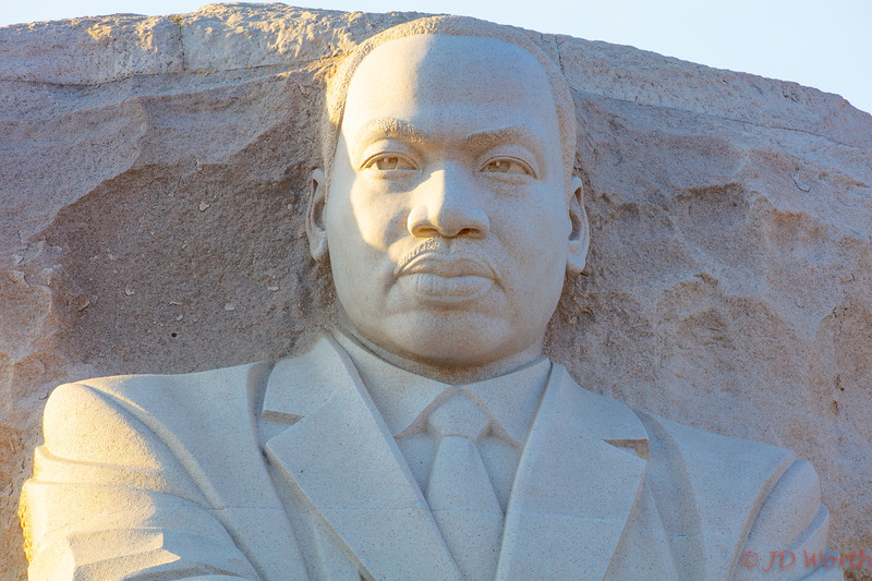 Martin Luther King Memorial - Golden Hour Head and Shoulders Bust - H4c
