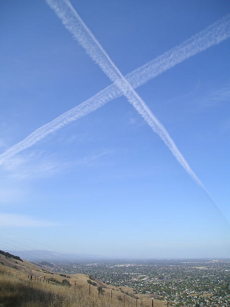 X marks the spot over San Jose. I wonder if that's where the treasure is buried? But as ethereal as a rainbow, and it was gone.