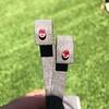 .98ctw Padparadscha Sapphire Bezel Stud Earrings 5