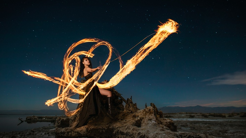 Love for fire  - fire painting