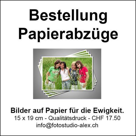 Bestellung Papierabzüge
