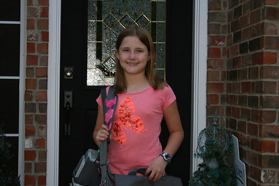 Courtneys First Day Of Third Grade - August 2011