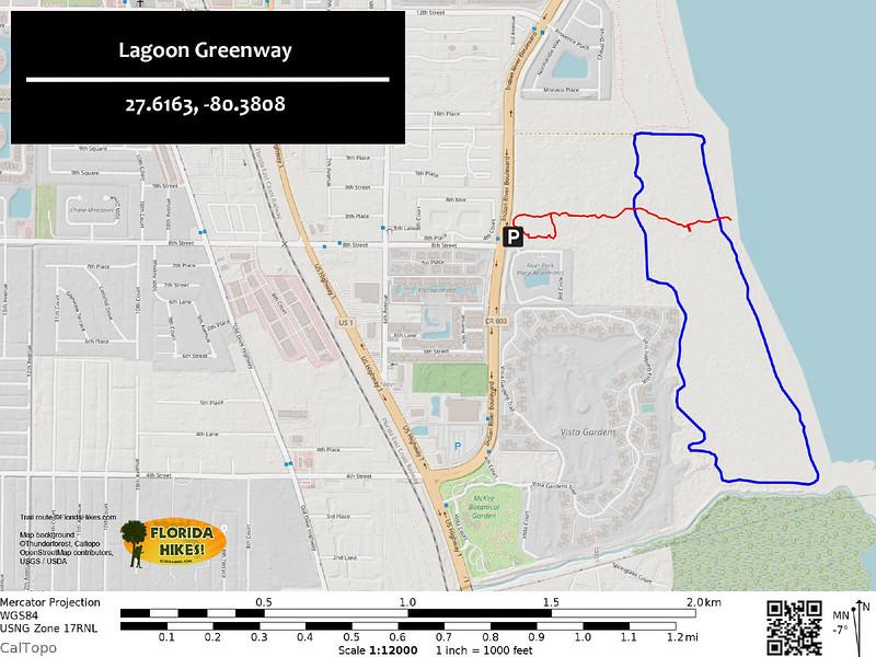 Lagoon Greenway Trail Map