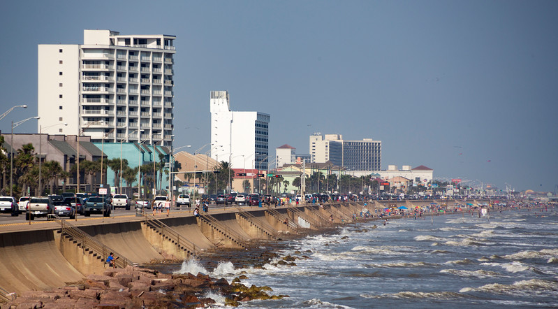 ... on the Galveston Seawall ...
