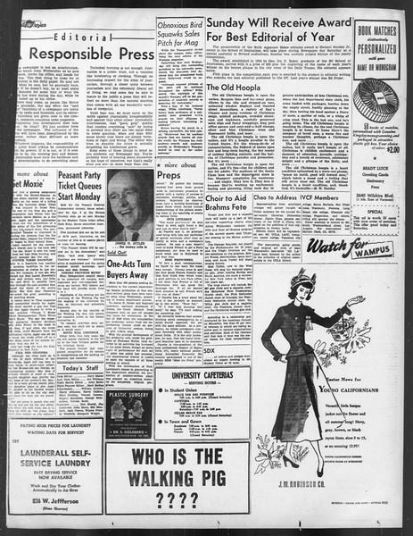 Daily Trojan, Vol. 39, No. 103-A, March 20, 1948