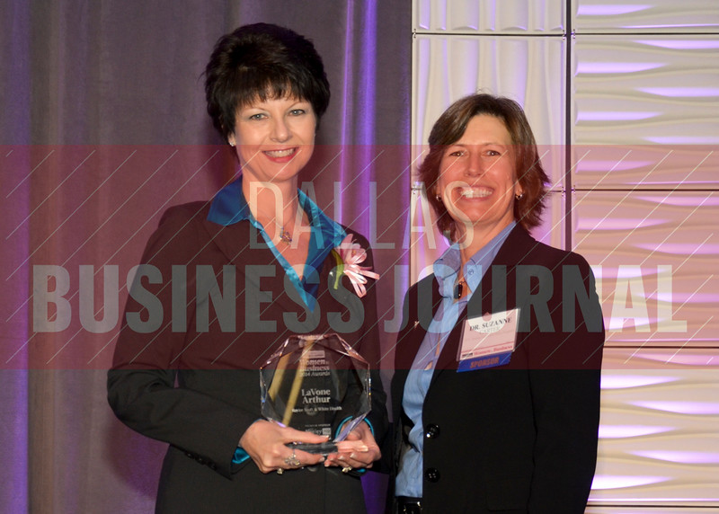 Women in Business award winner, LaVone Arthur, Baylor Scott & White Health, with Dr. Suzanne Carter of TCU's Neeley School of Business.