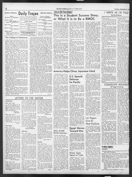 Daily Trojan, Vol. 32, No. 54, December 03, 1940