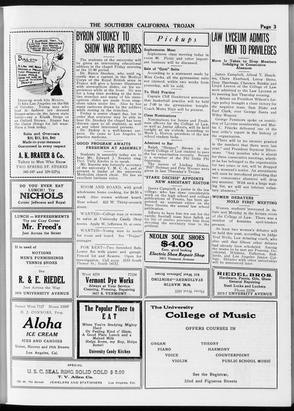 The Southern California Trojan, Vol. 8, No. 10, October 04, 1916