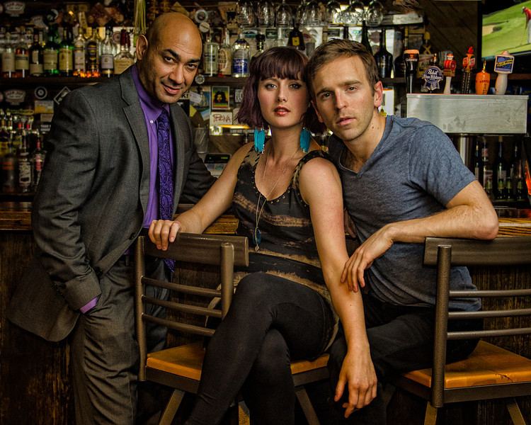 """Andrew Guilarte, Crystal Arnette,  and Alex Herrald in """"The Consequences,"""" Wellfleet Harbor Actors Theater, June, 2012 [Photo Credit: Michael and Suz Karchmer]"""