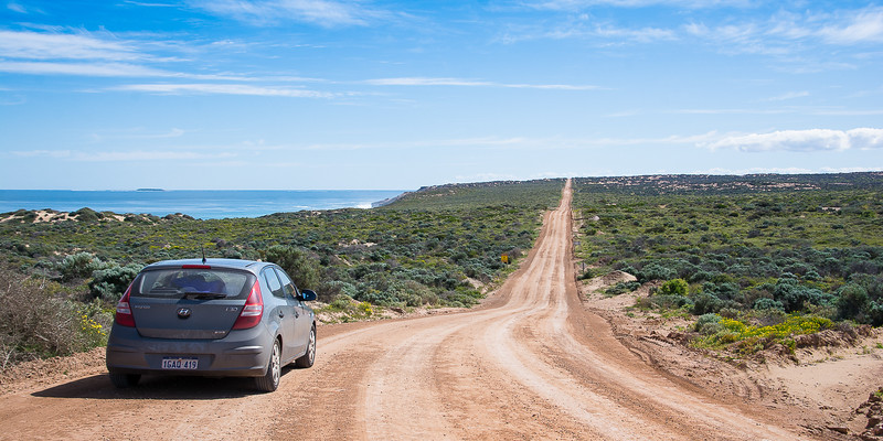 Near Streaky Bay - Our car - the famous I30...