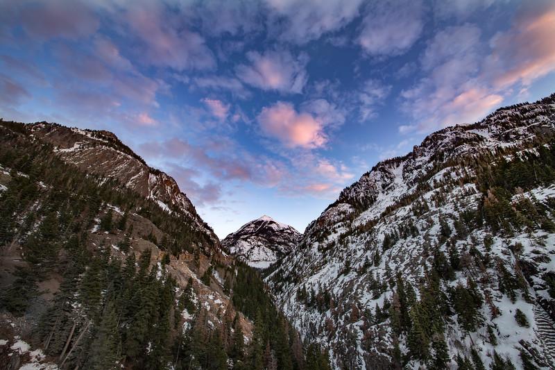 Abrams Mountain at Sunset