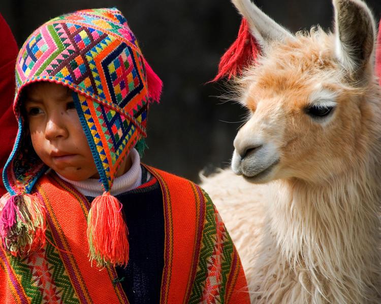 boy and his llama