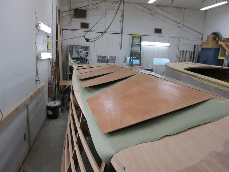 Epoxy applied to the inside of the plywood skin.