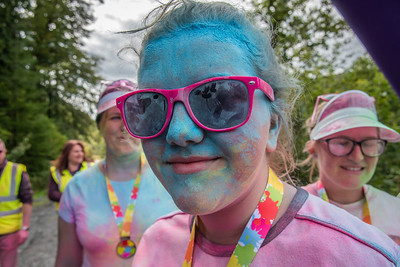Colour Run Coed y Brenin 5kM  - Before and After Pictures