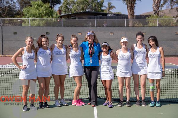 Mission Prep Tennis Vs. Morro Bay 09042018