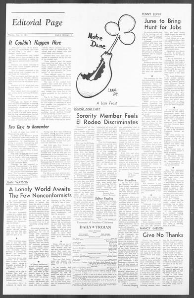 Daily Trojan, Vol. 56, No. 45, November 24, 1964
