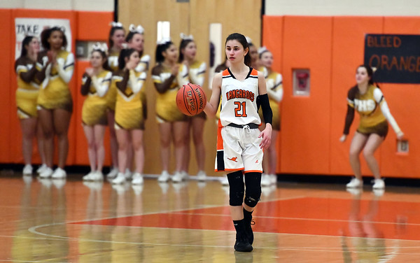 2/14/2020 Mike Orazzi | StaffrTerryville High School's Amy Roqi (21) during Friday evening's girls basketball game with Thomaston in Terryville.