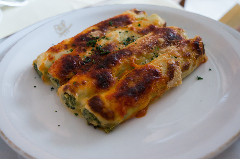Spinach and Ricotta Cannelloni at Harry Cipriani