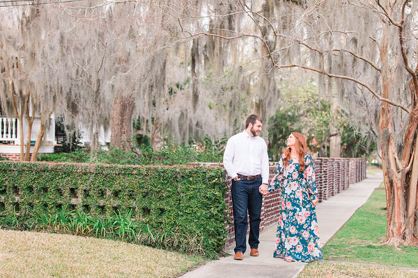 Taylor + Emily | Downtown Conway Engagement Session