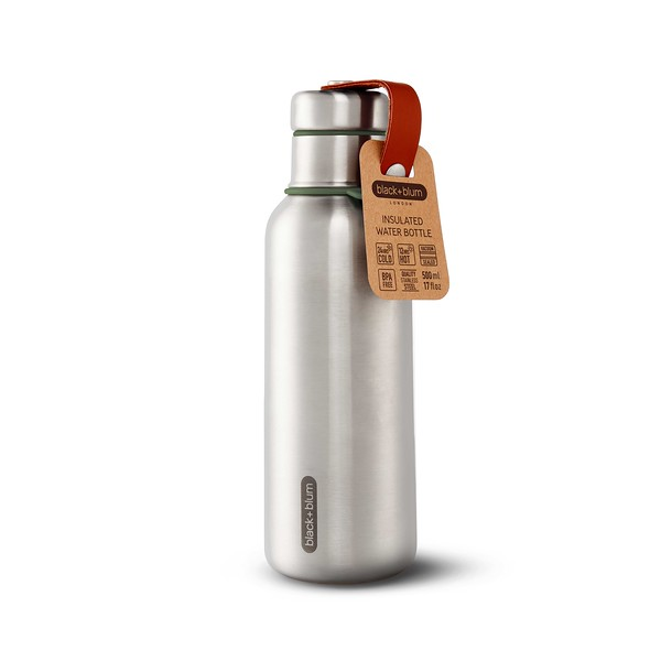 Insulated Water Bottle olive packaging Black Blum