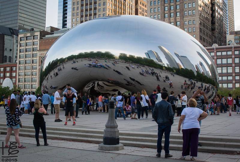 the bean statue