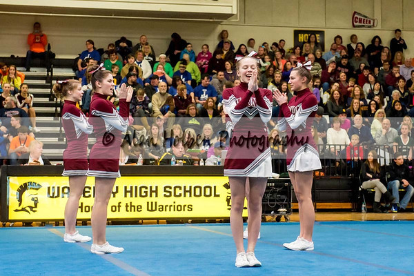 Cheer league meet at Waverly - Eaton Rapids